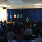 Dance Out Bullying Dancers answering questions